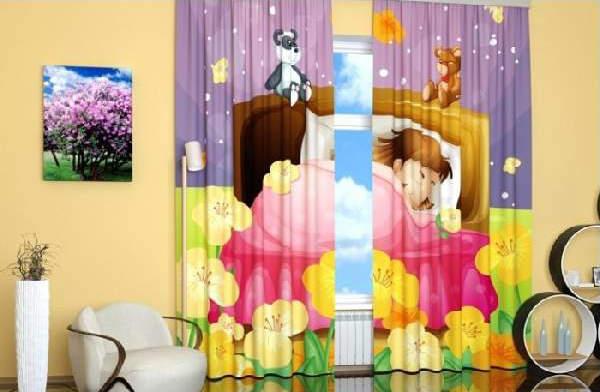 Шторы в детскую комнату для девочки: примеры стильного современного оформления