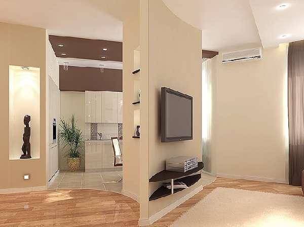 перегородки из гипсокартона для зонирования комнаты, фото 19