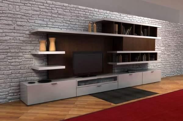 стенка горка в гостиную в современном стиле, фото 49