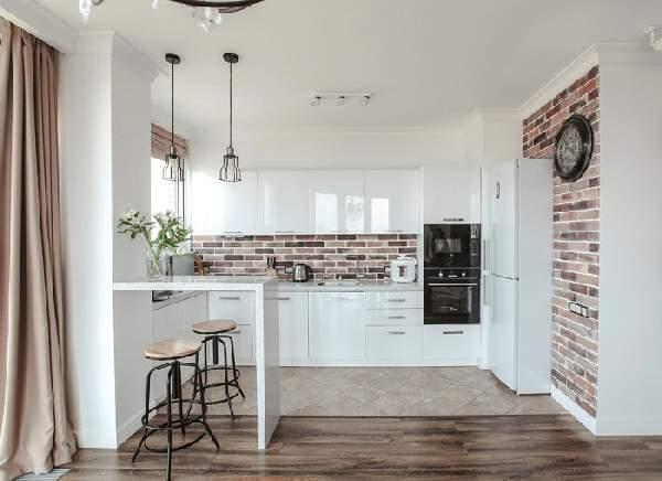 белый кухонный гарнитур, фото 17