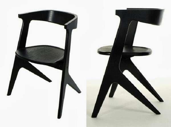 деревянные дизайнерские стулья, фото 35