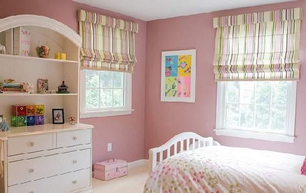 римские шторы в детскую комнату для девочки, фото 14