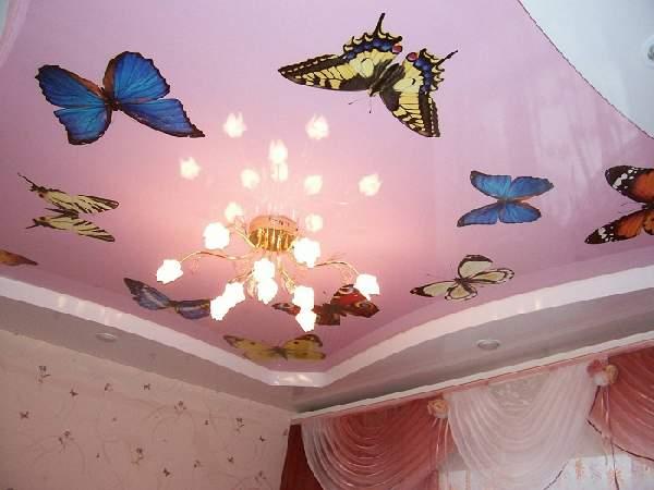 дизайн натяжных потолков в спальне, фото 2