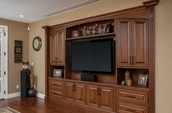 стенка в гостиную в современном классическом стиле, фото 52
