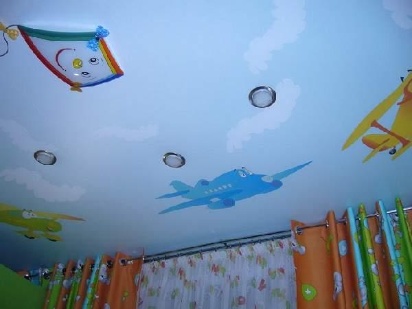 натяжные потолки в спальне дизайн фото, фото 3