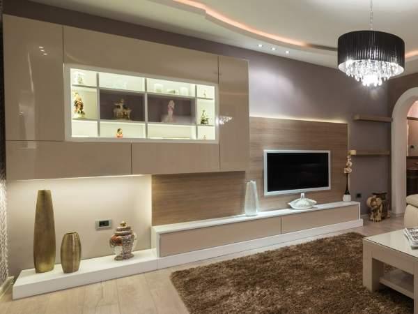 стенка навесная в гостиную в современном стиле, фото 35