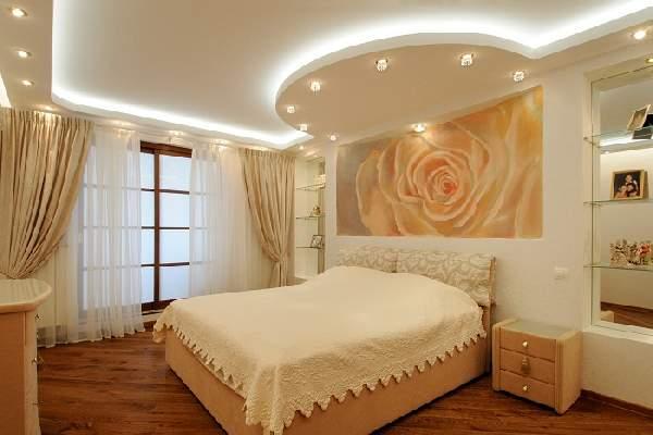 натяжной потолок для маленькой спальни, фото 29
