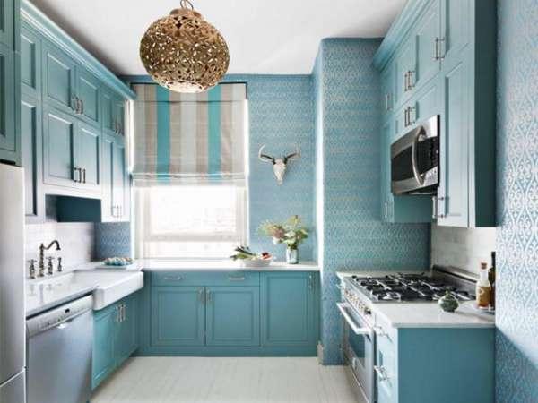 римские шторы фото в интерьере кухни, фото 8
