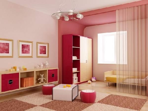 зонирование шторами детской комнаты, фото 30