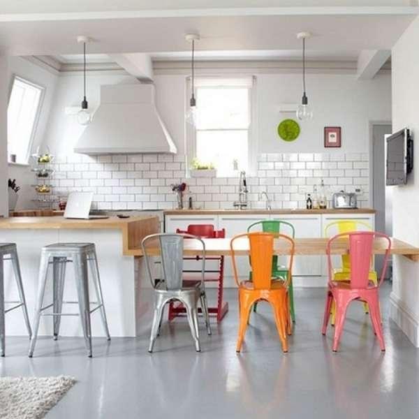 дизайнерские пластиковые стулья для кухни, фото 13