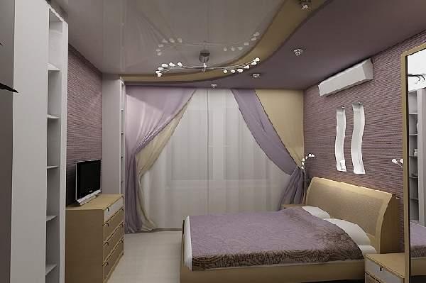 натяжной потолок для маленькой спальни, фото 30