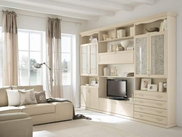 стенка в гостиную в современном классическом стиле, фото 53