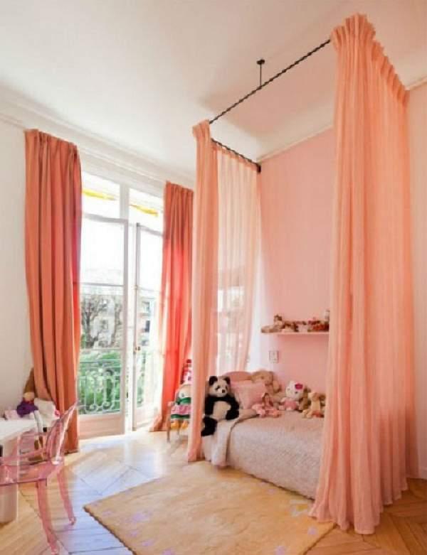 зонирование шторами детской комнаты, фото 31