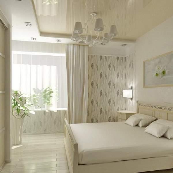 натяжной потолок для маленькой спальни, фото 31
