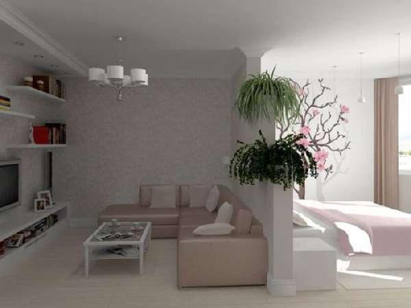 перегородки из гипсокартона для зонирования комнаты, фото 24