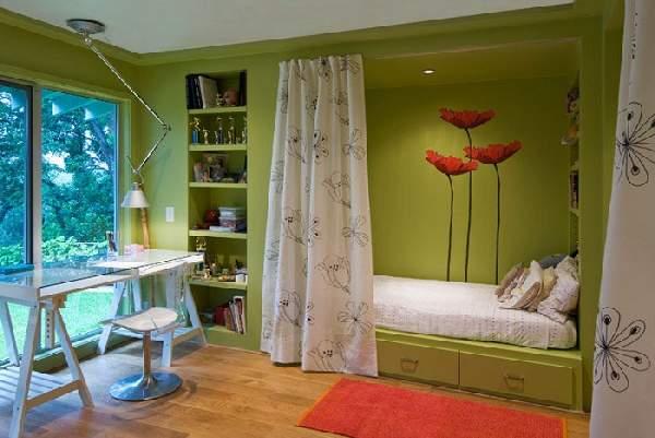 зонирование шторами детской комнаты, фото 33