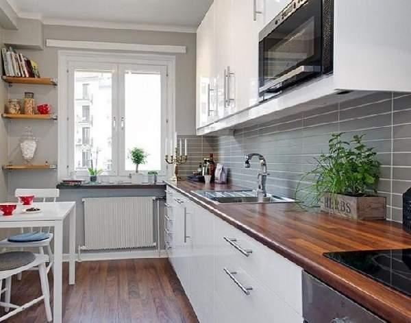 маленькие кухонные гарнитуры фото, фото 34