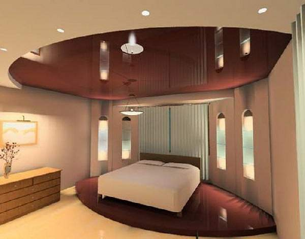 натяжной потолок для спальни двухуровневый, фото 22