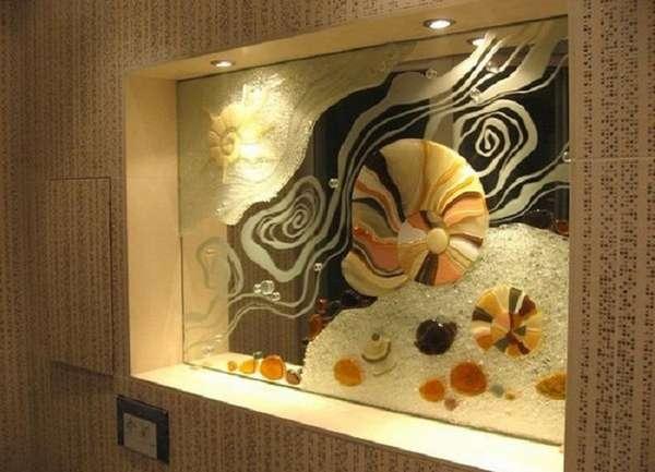 стеклянное панно на стену, фото 10