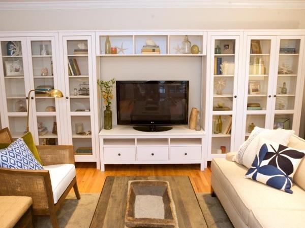 стенка в гостиную в современном классическом стиле, фото 15
