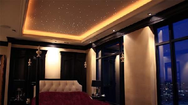 натяжной потолок для спальни двухуровневый, фото 24
