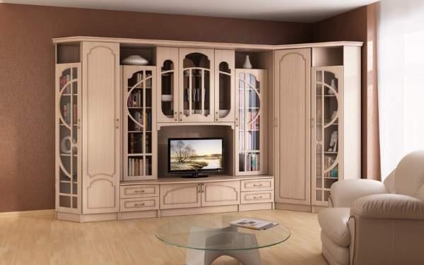 стенка в гостиную в современном классическом стиле, фото 55