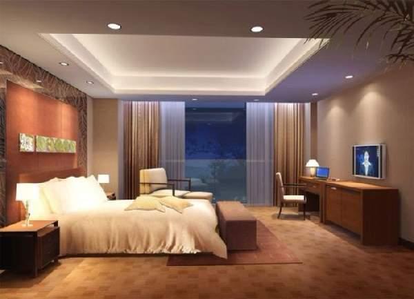 натяжной потолок для спальни двухуровневый, фото 25