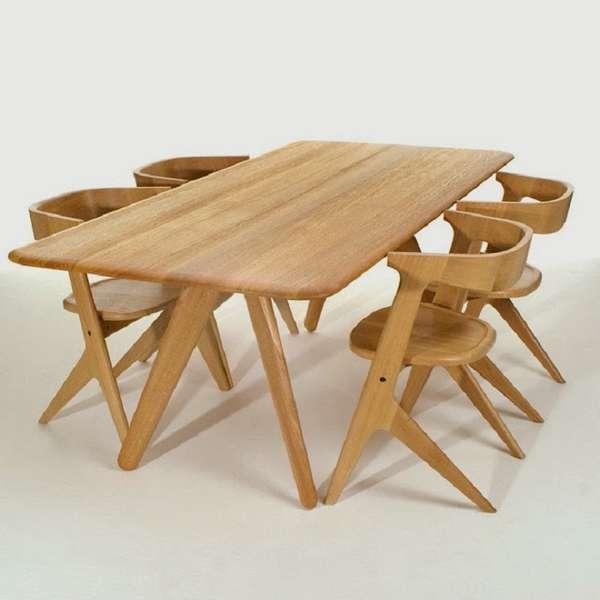 деревянные дизайнерские стулья, фото 36