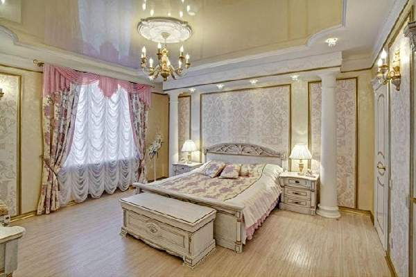 современные натяжные потолки в спальне фото, фото 14