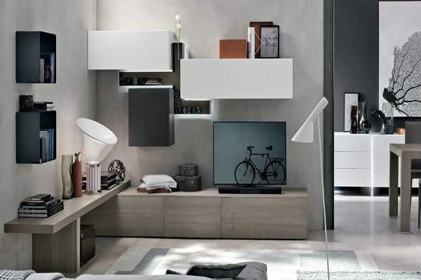 легкая стенка в гостиную в современном стиле, фото 41