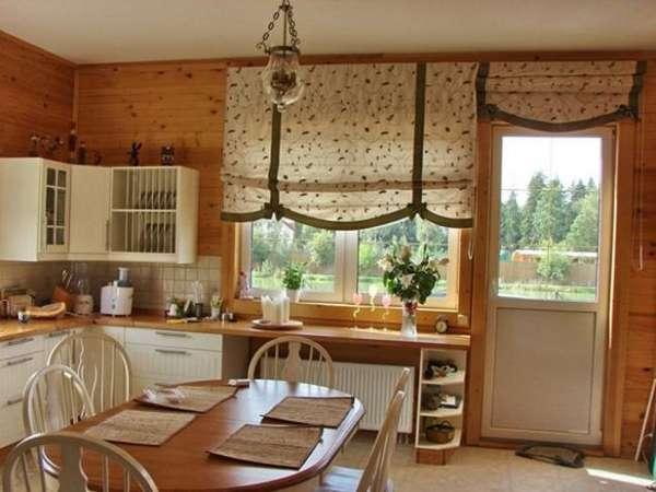 римские шторы на кухню с балконом, фото 28