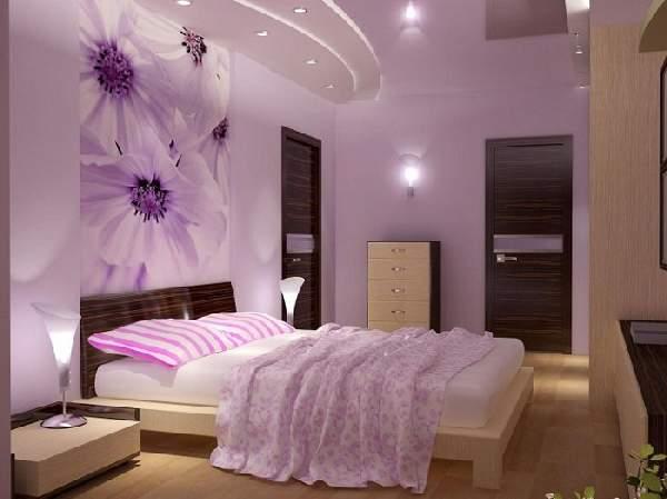 современные натяжные потолки в спальне фото, фото 16