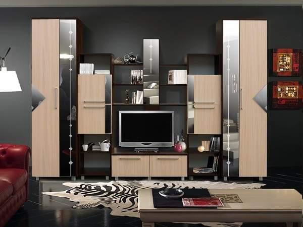 стильная стенка в гостиную в современном стиле, фото 2