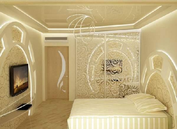 натяжной потолок в спальне, фото 28