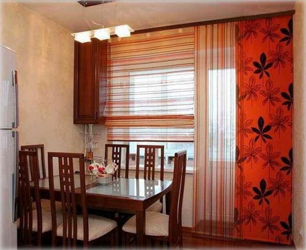 римские шторы на кухню с балконом, фото 30