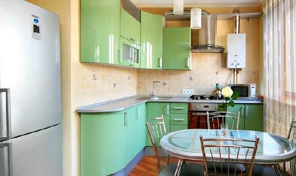 угловой кухонный гарнитур для маленькой кухни, фото 35