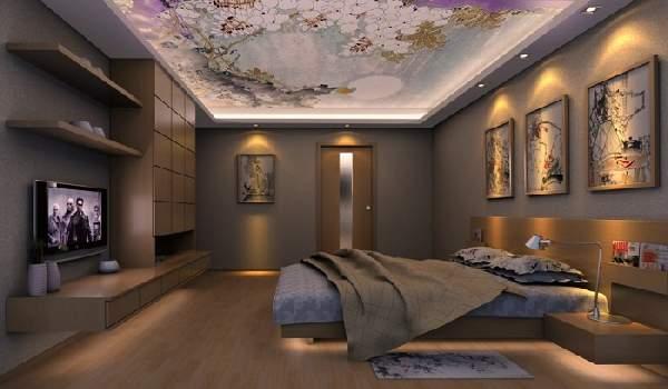 натяжные потолки фото для спальни глянцевые, фото 12