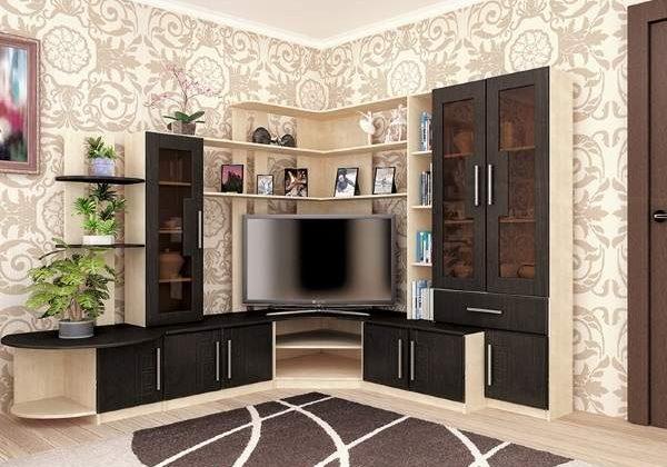 Стильная стенка в гостиную в современном стиле