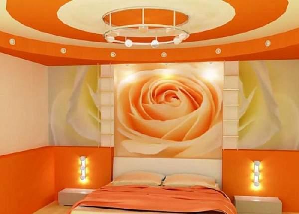 цвет натяжного потолка в спальне, фото 17