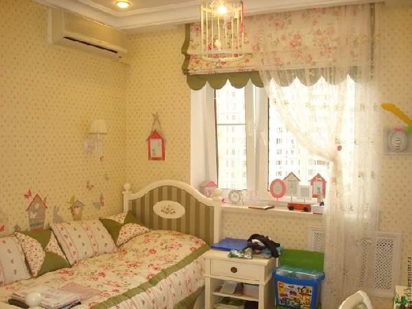 римские шторы в детскую комнату для девочки, фото 16