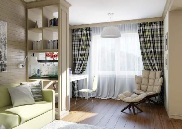 зонирование рабочего места в гостиной, фото 50