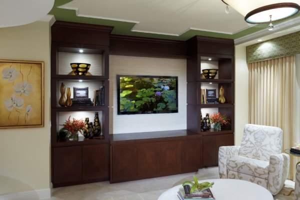 вместительная стенка в гостиную в современном стил, фото 5