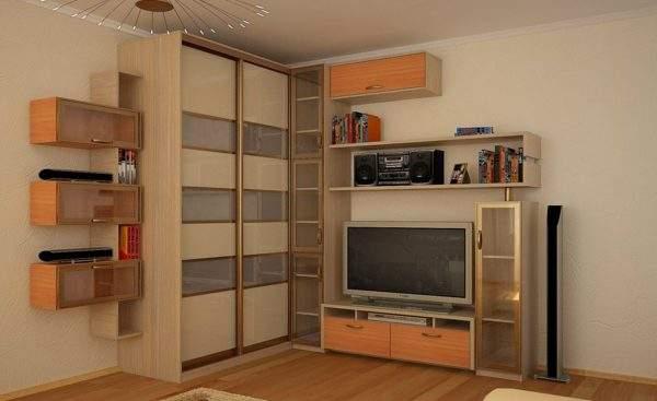 угловая стенка в гостиную в современном стиле, фото 7