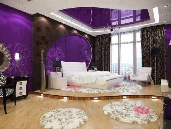 какие натяжные потолки лучше для спальни, фото 38