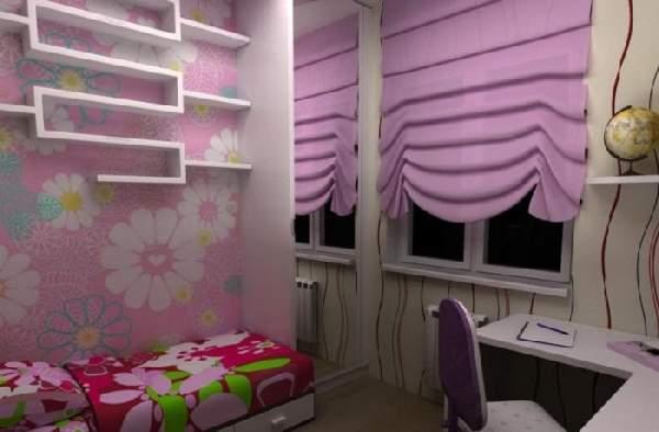 римские шторы в детскую комнату, фото 17