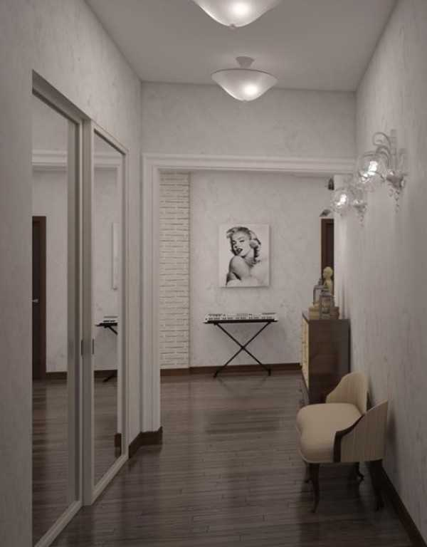 встроенные прихожие в коридор, фото 60