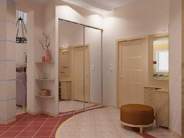 встроенные прихожие в коридор, фото 62
