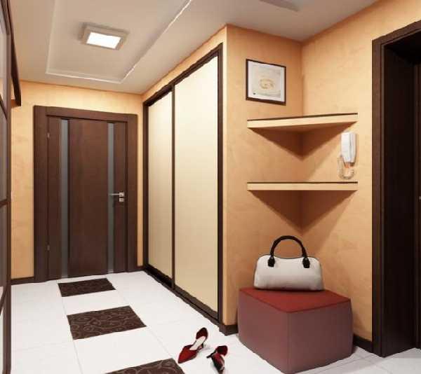 встроенные прихожие в коридор, фото 66