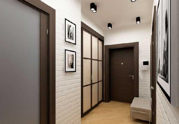 встроенные прихожие в коридор, фото 67