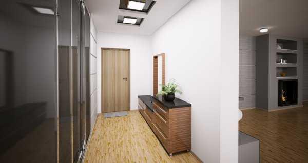 встроенные прихожие в коридор, фото 68